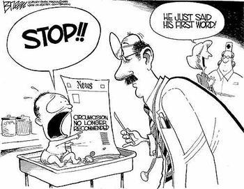 Obrezivanje djece karikatura