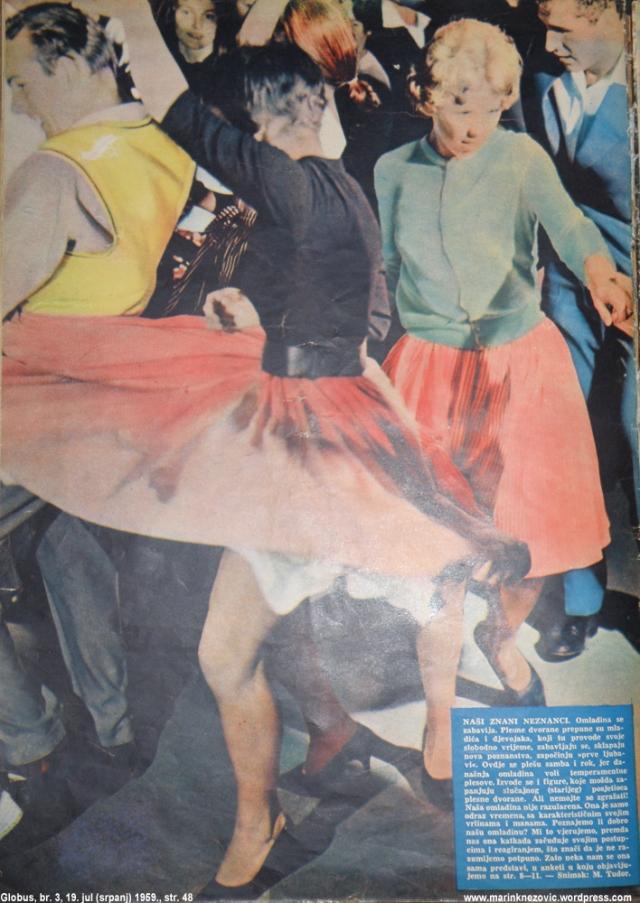 Omladina se zabavlja plešući rok