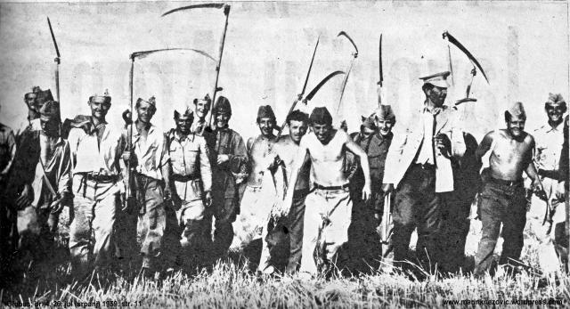 Vojnici u žetvi žita