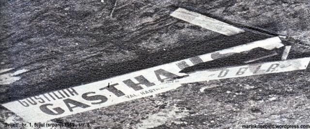 Uništen natpis