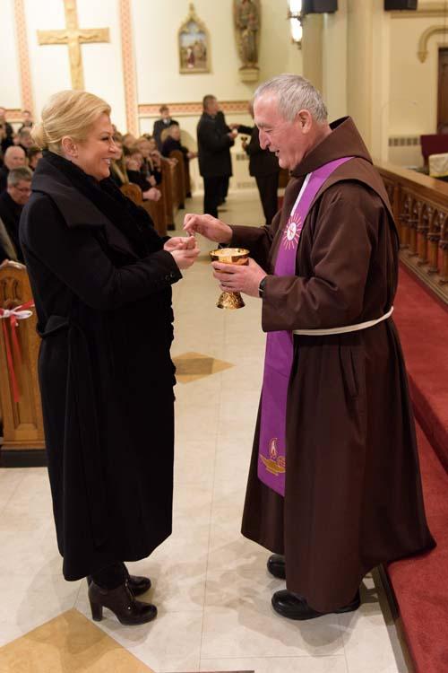 New York, 08.03.2015 - Kolinda Grabar Kitarovic posjetila Hrvatsku zupu sv. Cirila i Metoda i sv. Rafaela