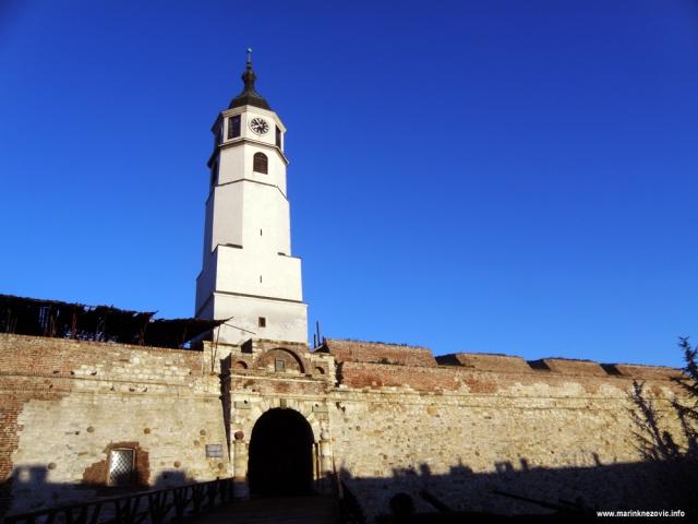 Kalimegdan, Beograd, tvrđava, sat kula