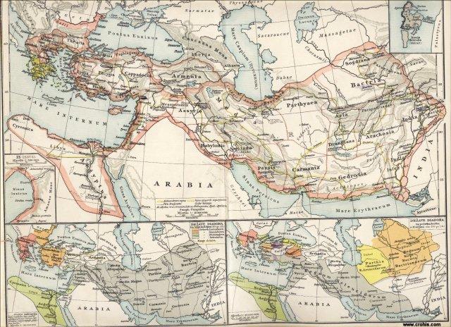 Država Aleksandra Velikog. Tir. Države diadoha poslije bitke kod Ipsa (301. pr. Kr.). Države diadoha na početku borbe s Rimljanima.