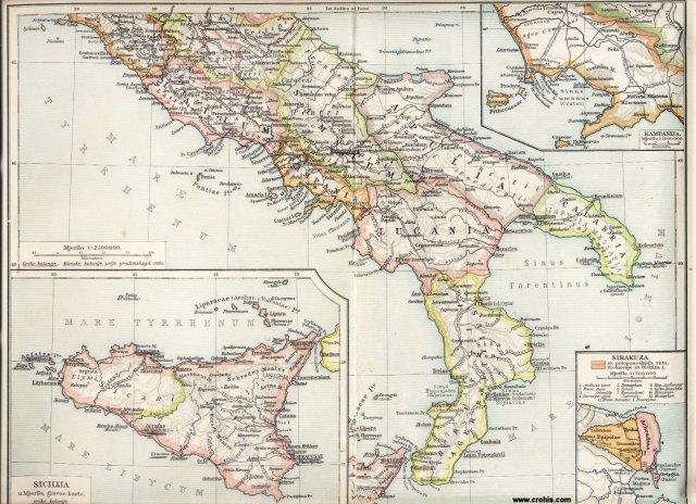 Antička Italija, južni dio. Kampanija. Sirakuza. Sicilija