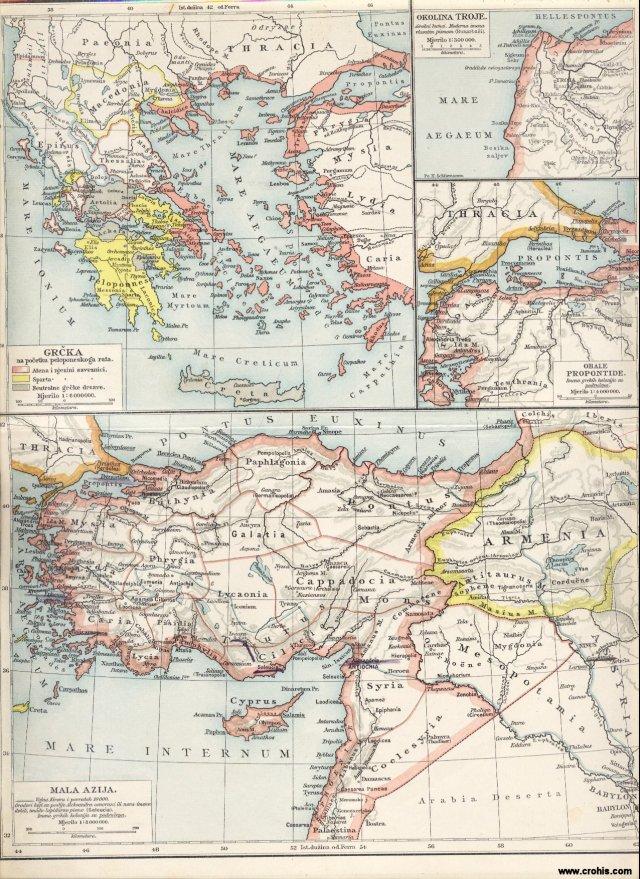 Mala Azija. Grčka na početku peloponeskog rata. Obale Propontide. Okolina Troje.