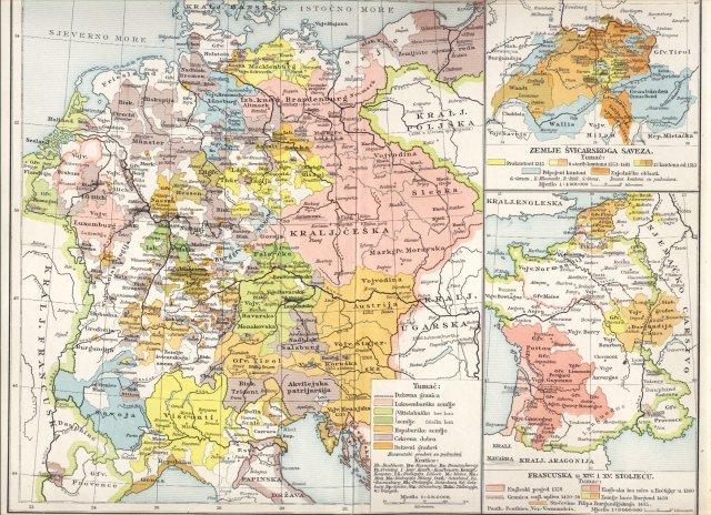 Njemačka i gornja Italija u 14. stoljeću (1378.). Francuska u 14. i 15. stoljeću. Zemlje švicarskog saveza.