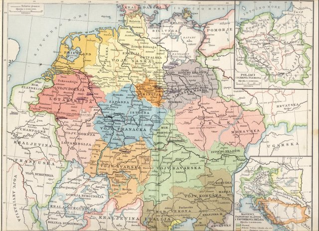 Njemačka za saskih i franačkih careva. Poljaci i njihova plemena. Slovenci, panonski Slaveni i Trpimirova država (850. - 864.)