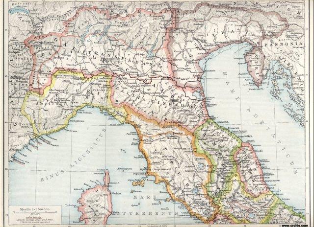 Antička Italija, sjeverni dio.