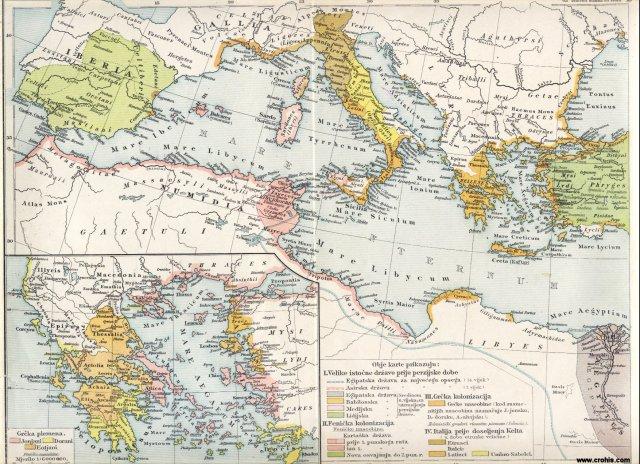 Stari svijet, zapadni dio. Grčka plemena.