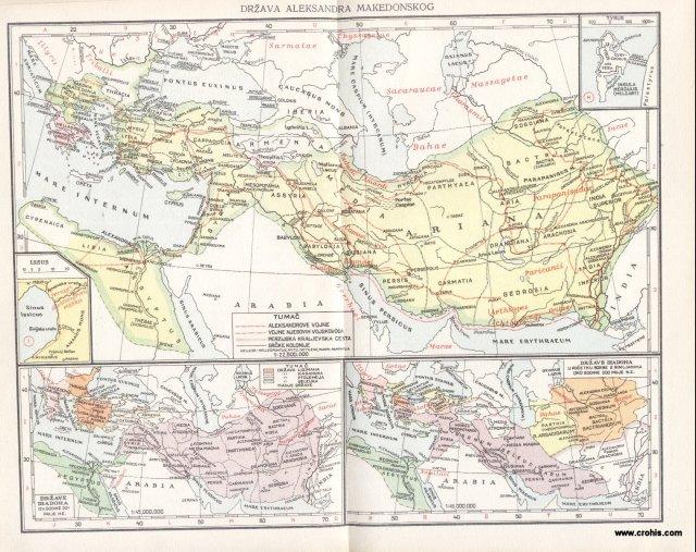 Država Aleksandra Makedonskog; Države dijadoha 301. pr. Kr.; Države dijadoha oko 200. pr. Kr.