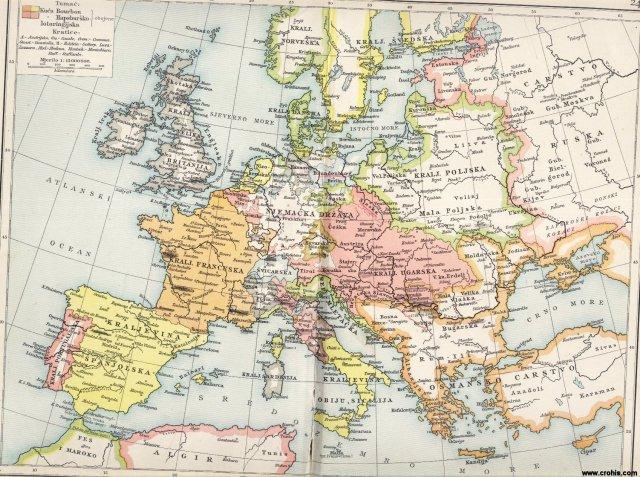 Europa u 17. i 18. st. (1740.)