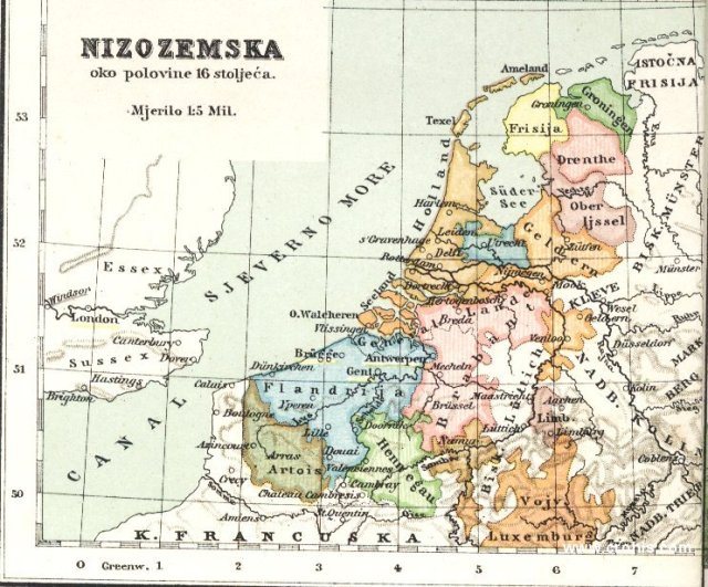 Nizozemska oko polovine 16. st.
