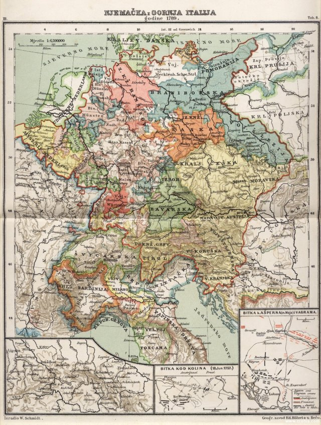 Njemačka i gornja Italija godine 1789.