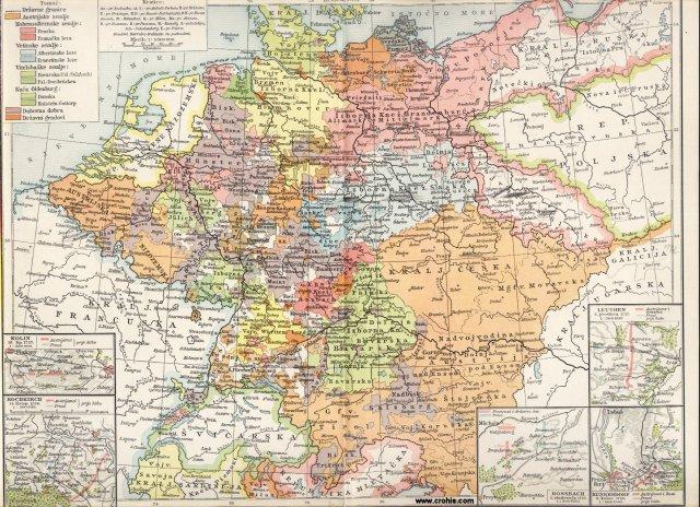 Njemačka u 18. st. (1786.); Rossbach; Leuthen; Hochkirch; Kunnersdorf; Kolin.