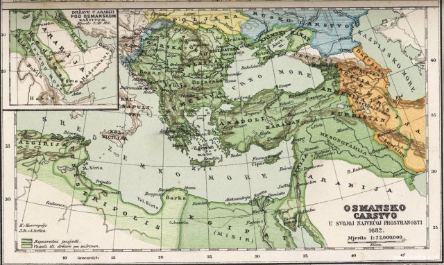 Osmansko carstvo u svojoj najvećoj prostranosti 1682.