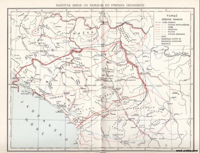 Razvitak Srbije od Nemanje do Stefana Dečanskog