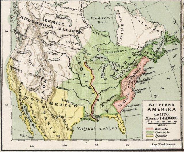 Sjeverna Amerika do 1776.