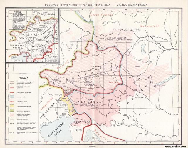 Razvitak slovenskog etničkog teritorija, Velika Karantanija oko 1000.