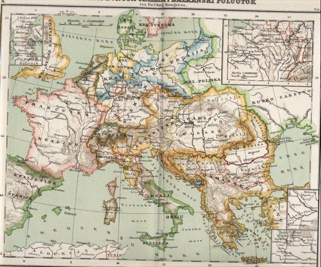 Srednja Evropa - Italija i Balkanski poluotoka iza Bečkog kongresa