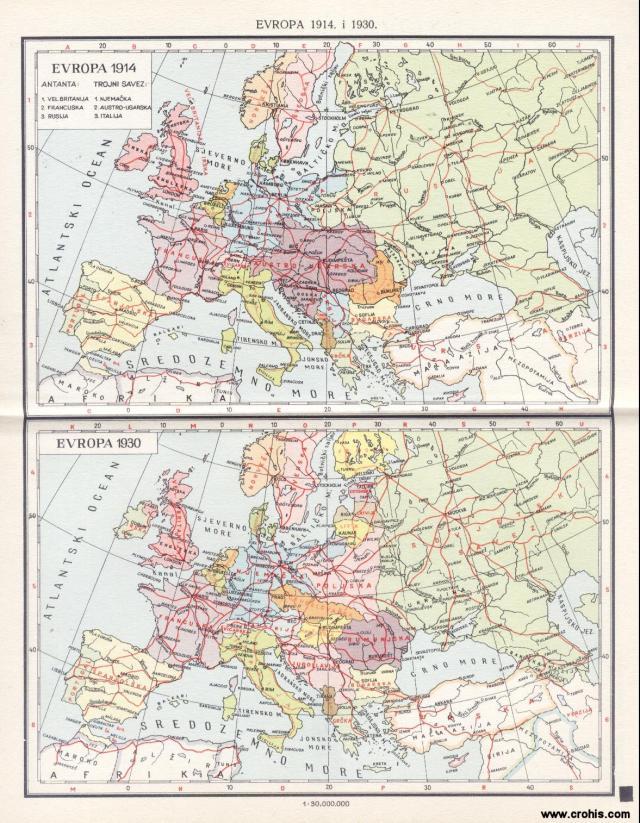 Evropa 1914. i 1930.