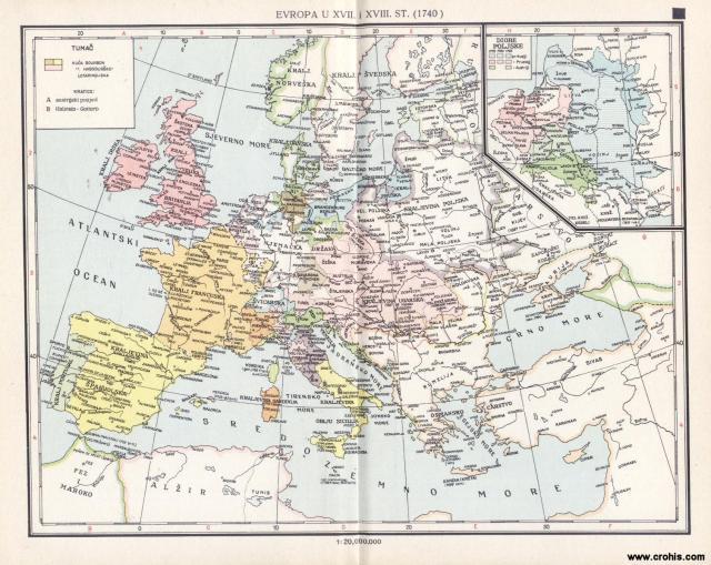 Evropa u XVII.. i XVIII. st. (1740.); Dioba Poljske