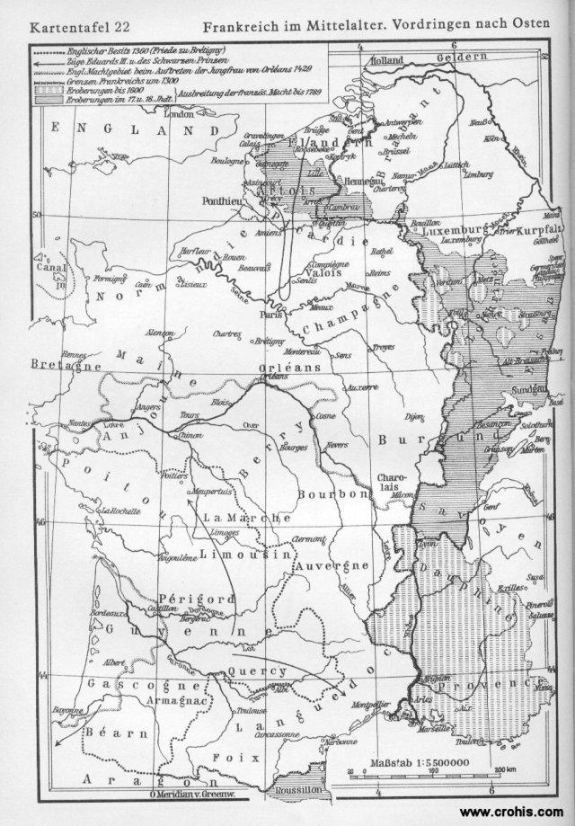 Francuska u srednjem vijeku i njeno prodiranje na istok