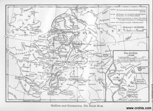 Galija, Germanija i Rim