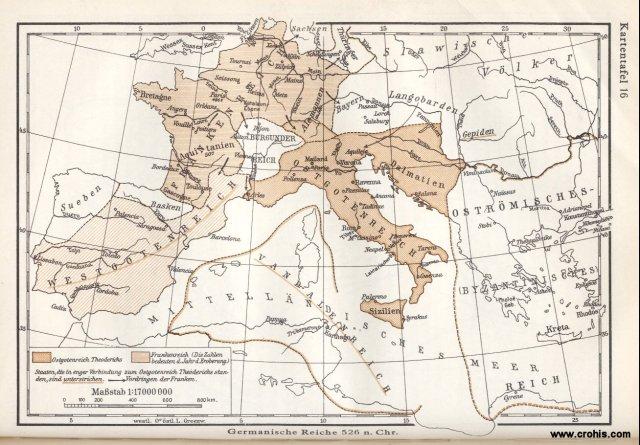 Germanska kraljevstva 526.