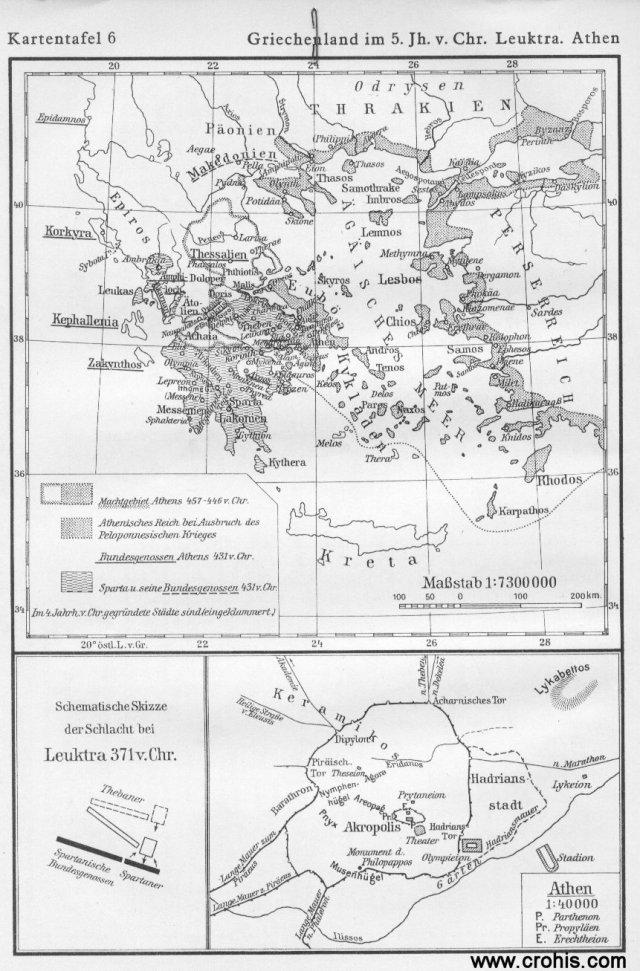 Grčka u 5. st., bitka kod Leuktre, Atena