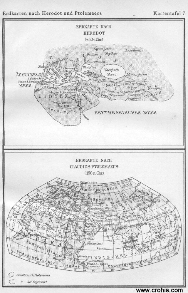 Slika svijeta prema Herodotu i Ptolemeju