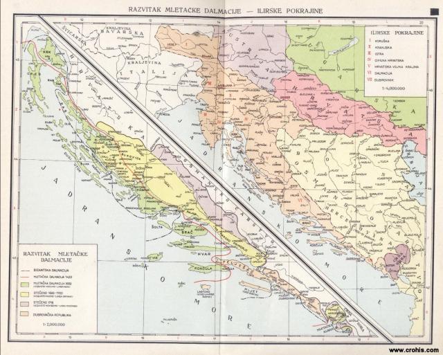 Razvitak Mletačke Dalmacije; Ilirske pokrajine
