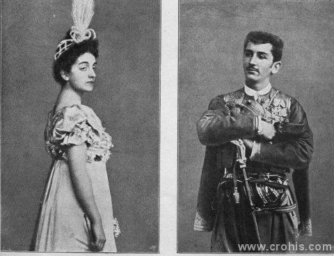 Crnogorski princ Mirko s zaručnicom. Početkom 20. stoljeća aristokracija još uživa veliki ugled i društveni utjecaj. Ona je predmet žive znatiželje javnosti. To se odnosi i na aristokraciju i tako malih zemalja kao što je Crna Gora.