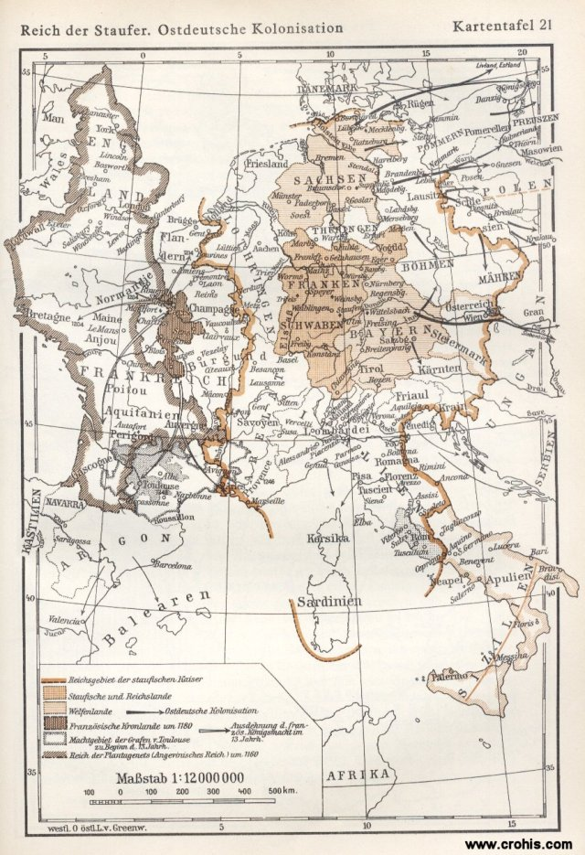 Carstvo Staufera i njemačka kolonizacija istoka