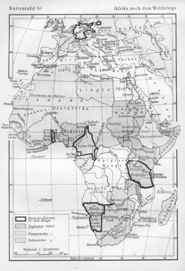 Afrika poslije 1. svjetskog rata