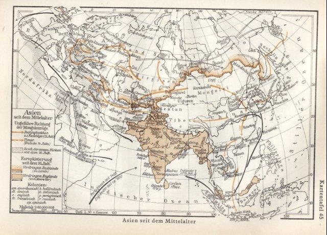 Azija od vremena srednjeg vijeka