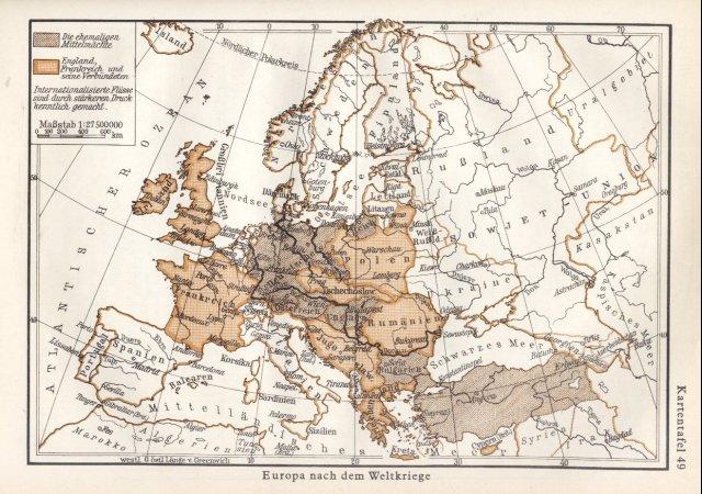 Europa poslije 1. svjetskog rata