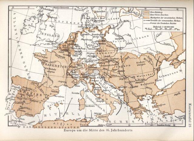 Europa sredinom 16. stoljeća