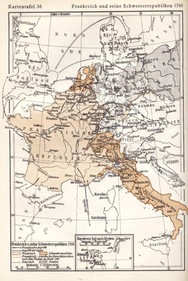 Francuska i sestrinske republike 1799.