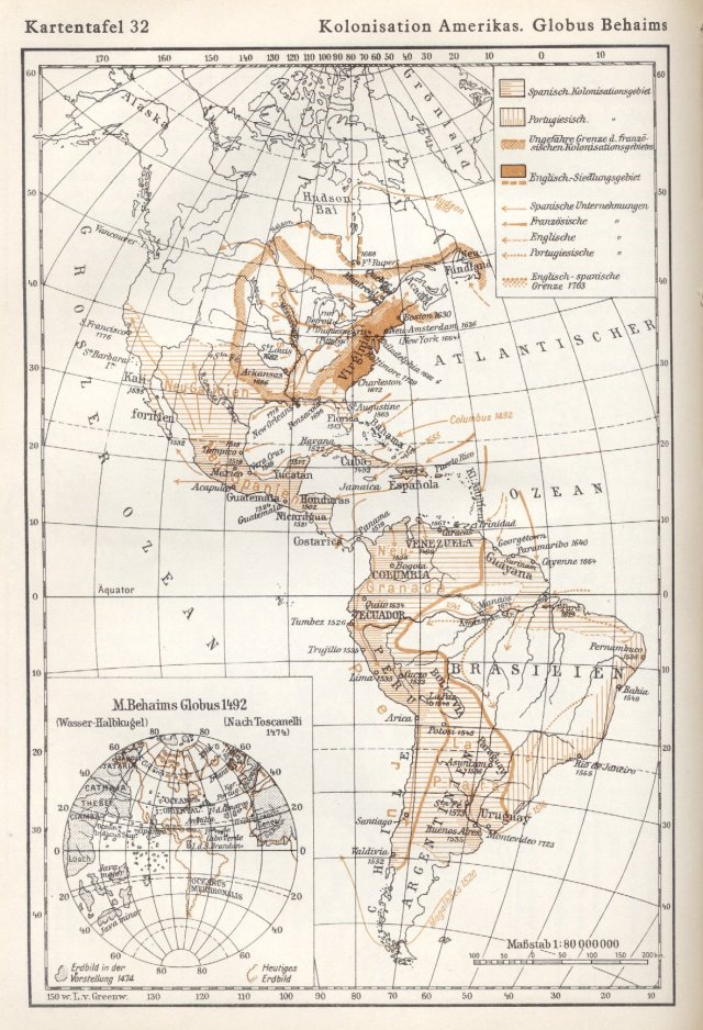 Kolonizacija Amerika. Behaimov globus