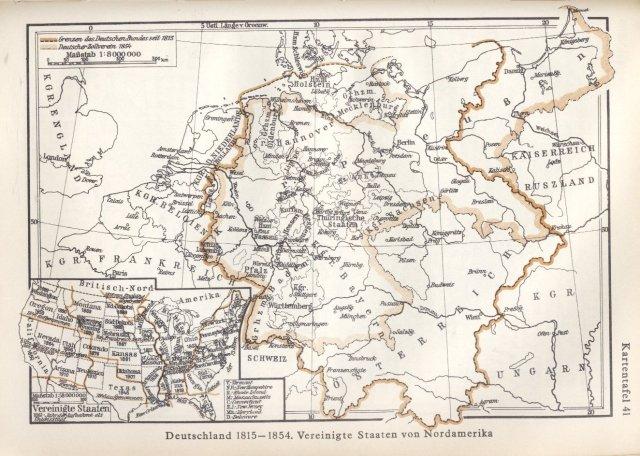 Njemačka 1815. - 1854. Sjedinjene američke države.