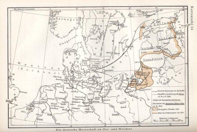 Širenje Nijemaca duž Sjevernog i Baltičkog mora