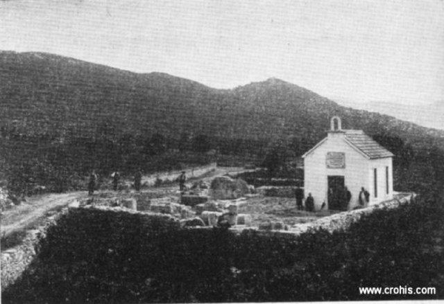 Ostaci starohrvatske crkve sv. Marte u Bijaćima u Kaštelima iz 9. st.