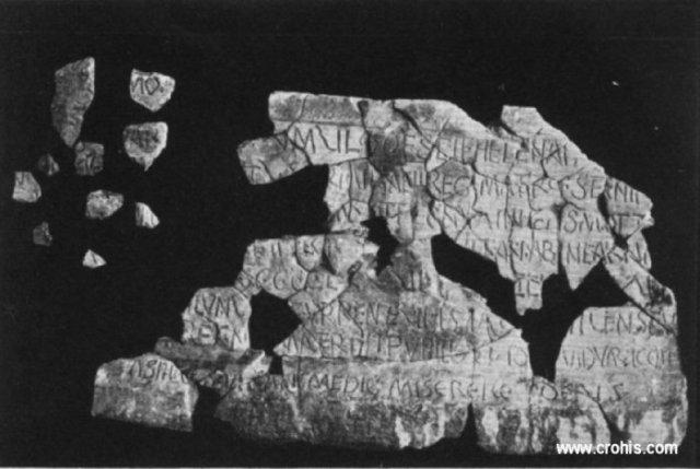 Ostaci sarkofaga kraljice Jelene s Gospina otoka u Solinu