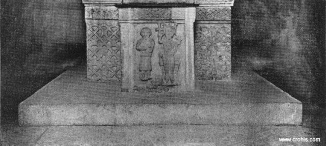 Reljefni prikaz hrvatskog kralja iz splitske krstionice
