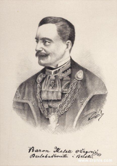 Metel Ožegović (1814. – 1890.), političar. Istaknuti preporoditelj. Kasnije zagovornik federalističkog preuređenja Habsburške monarhije i protivnik Hrvatsko-ugarske nagodbe.