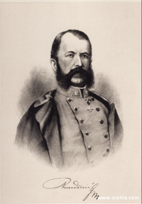 Petar Preradović (1818. – 1872.), vojnik, pjesnik i preporoditelj.