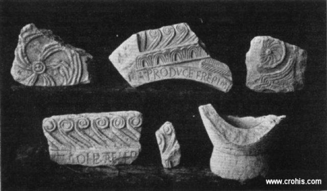 Dijelovi crkvenog namještaja iz Rižinica s natpisom kneza Trpimira, pol. 9. st.