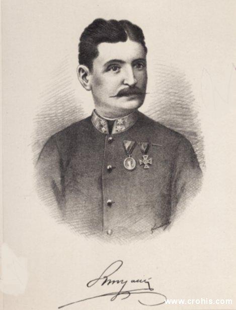 """Josip Runjanin (1821. – 1878.), časnik u austrijskoj vojsci i glazbenik amater. Autor glazbe za hrvatsku himnu """"Lijepa naša""""."""