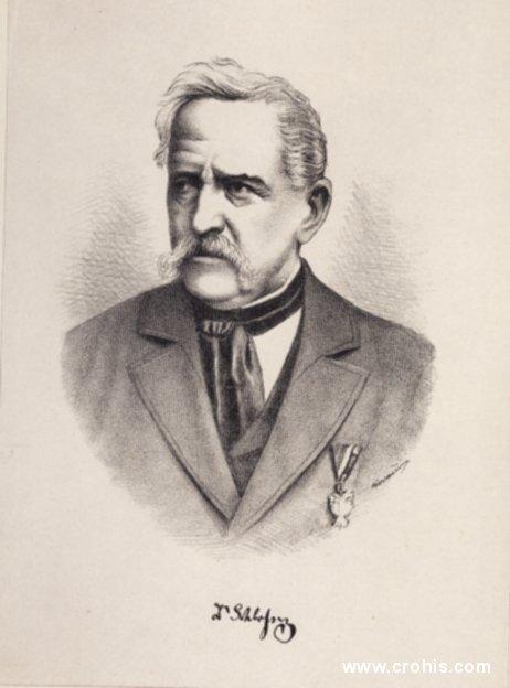 """Josip Schlosser (1801. – 1882.), liječnik i botaničar. Uz Vukotinovića autor glavnog djela za poznavanje biljaka Hrvatske """"Flora croatica""""."""