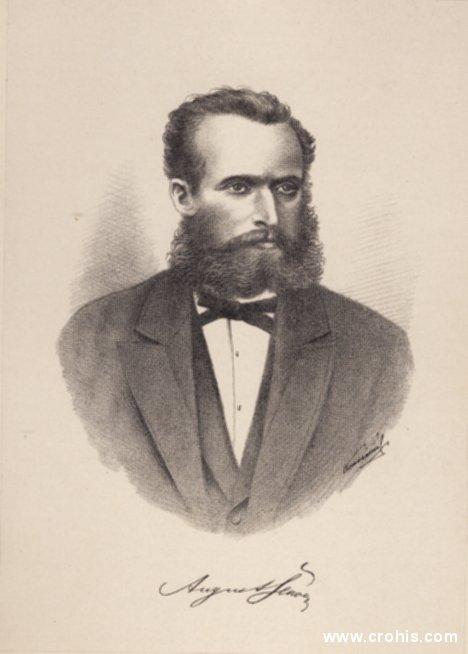 August Šenoa (1838. – 1881.), književnik. Istaknuti romanopisac i to posebno povijesnih romana u kojima do izražaja dolaze težnje i vrijednosti novog, hrvatskog građanskog društva.